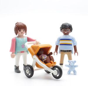 Playmobil Playmobil 9272 Familie Pärchen Baby Dreirad Kinderwagen Bär Teddy Kindergarten