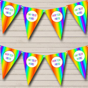 Two Tone Regal Blue Personalized Birthday Party Bunting Flag Banner