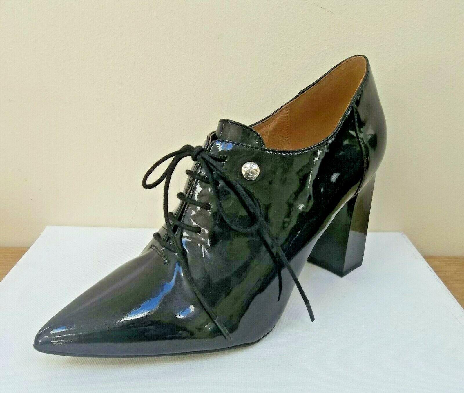 Caprice ladies noir patent lace up chaussures, UK 4.5 EU 37.5,   BNWB