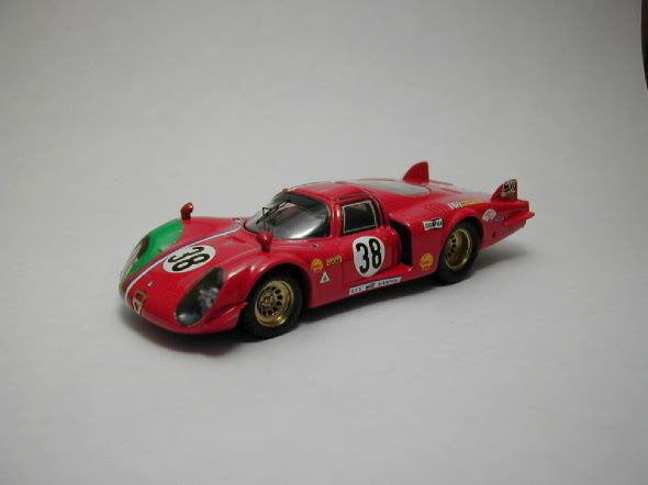 ALFA ROMEO 33/2  38 32th LM 1969 Gosselin/bourgoigne 1:43 Model Best MODELS