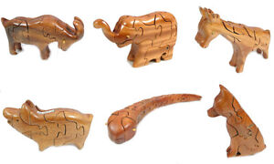 3D Animal Wooden puzzle Toy, Brain Teaser, Cube,Building Block for Kids PZA01-14