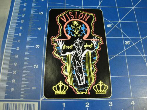 vtg 1980s Vision skateboards sticker Grigley Old Ghost Mask and Old Ghosts inc