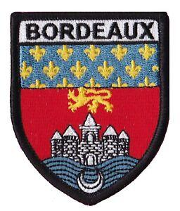 Patch printed shield embroidery border badge souvenir flag city county bordeaux