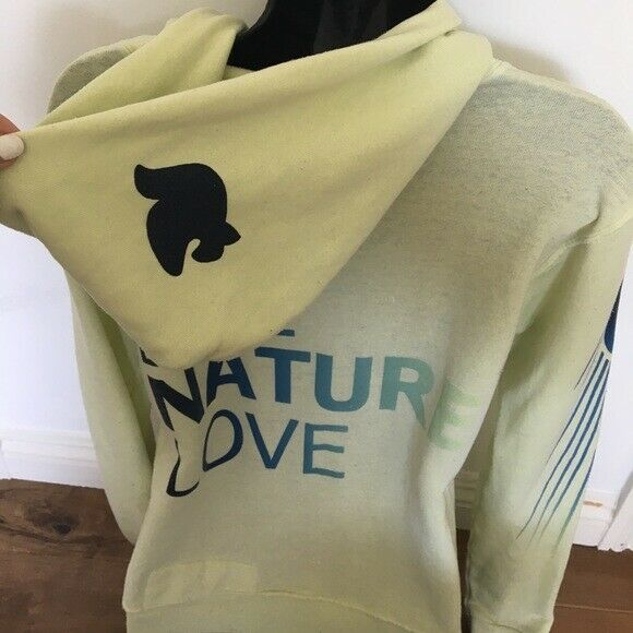 Free City Green Green Green Zip Up Hoodie Sz 1 542fd3