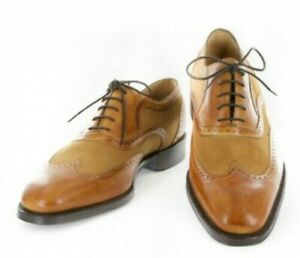 Neuf Sutor Mantellassi Caramel Marron Chaussures - Lacet Bout D'Aile - 11.5/10.5