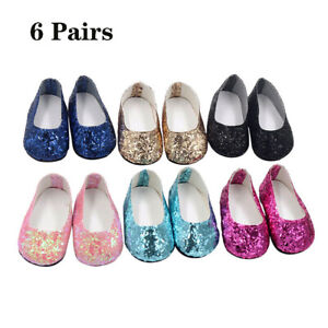 6Pairs-Modern-Doll-Shoes-Sparkle-Sequined-Shoes-For-18-inch-American-Girl-Doll