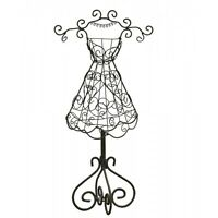 Beautiful Sturdy Metal Mannequin Jewellery Stand Display Mannequin Dark Brown