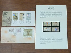 Stamps-Exhibition-and-Maps-of-Singapore-FDC-Bundle