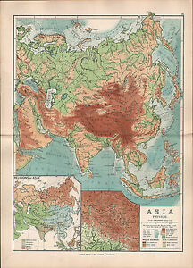 1895 victorian map asia physical religions kashmir himalaya land image is loading 1895 victorian map asia physical religions kashmir himalaya gumiabroncs Image collections