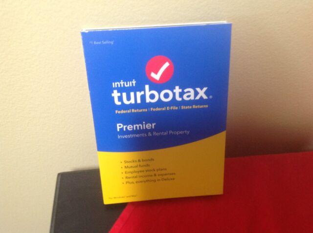 Intuit TurboTax Premier 2018 E-file 1 State Win Mac Disc CD Genuine