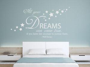 Wandtattoo Schlafzimmer Wandsticker Sprüche All your dreams come ...
