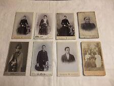 Konvolut alte Fotos auf Pappe Kabinettfotos Pappfotos Frauen Männer Offizier