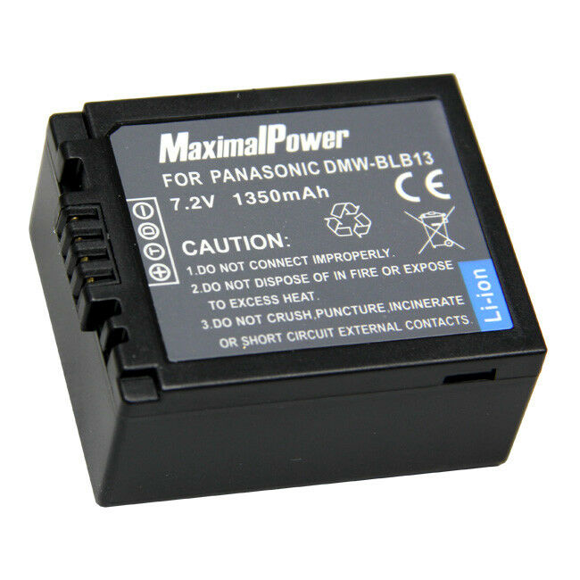 For Panasonic DMW-BLB13 Camera Battery DMC-G2K DMC-G1KEB DMC-G10K DMC-G1A 1.35Ah