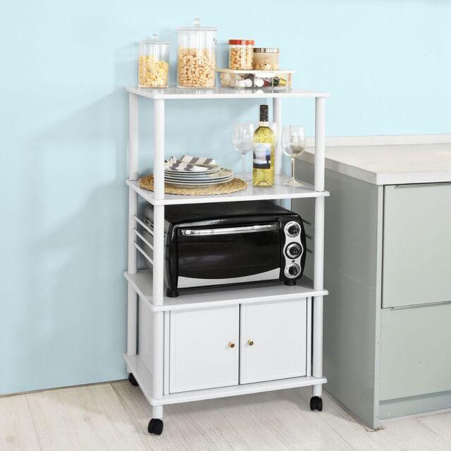 So Wood Kitchen Storage Cabinet Cart Microwave Rack Shelf Frg12 W