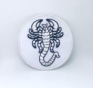 Scorpion-Motard-Veste-Jeans-Noir-Blanc-Brode-Repasser-Patch-a-Coudre-028