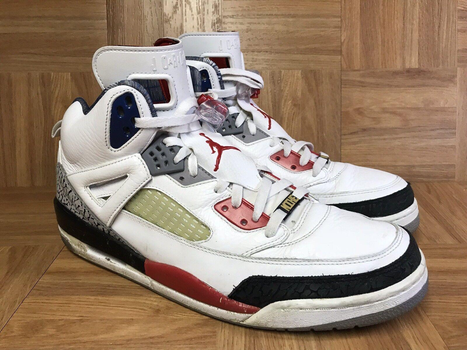 RARE Nike Air Jordan Spizike Mars Blackmon White Fire Red Black 14 315371-165