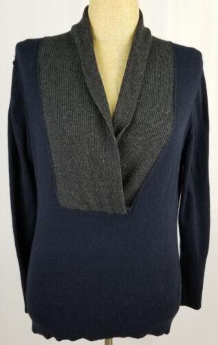 femmes XL mélangé Pull marine Republic longues laine Taille Banana manches de pour à en bleu pB1Sq