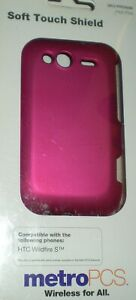 MetroPCS-Soft-Touch-Hard-Shell-case-for-HTC-Wildfire-S-Hot-Pink-Matte-Finish