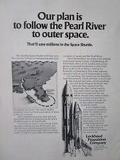 6/1973 PUB LOCKHEED PROPULSION SPACE SHUTTLE PEARL RIVER NASA MTF ESPACE AD