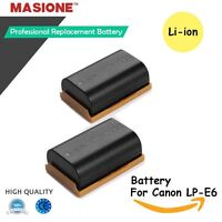 2x Lp-e6 Li-ion Battery For Canon Eos 6d 60d 7d 70d 5d Mark Ii Iii Dslr Camera on Sale