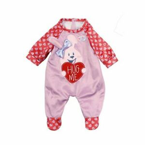 Zapf Creation Baby Born Doll Dolls Romper Outfit For 39-43cm Dolls - Pink