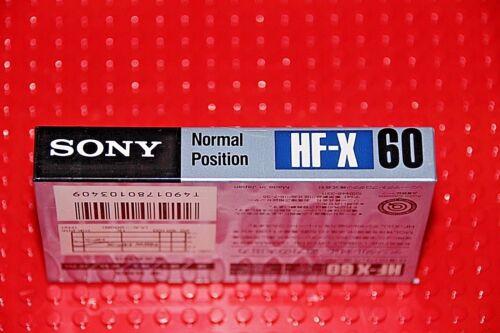 1 SONY  HF X  60    BLANK CASSETTE TAPE SEALED