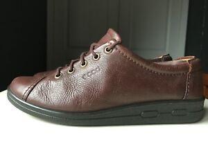ECCO Brown Leather Women Ladies Comfort