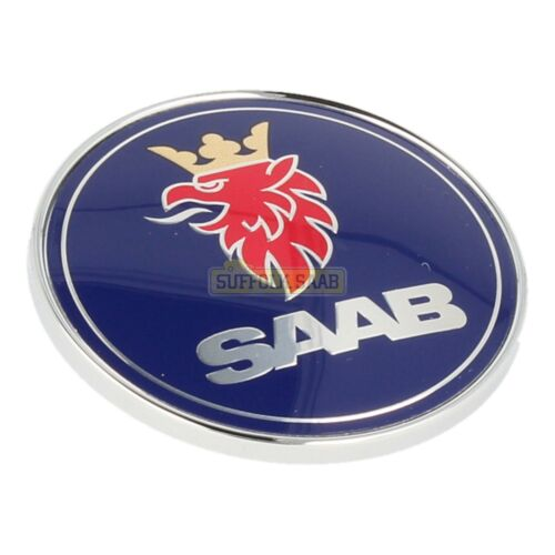 Saab 93 9-3 9400 98-03MY SAAB Bonnet Badge 5289871 neuf origine Suffolk RARE