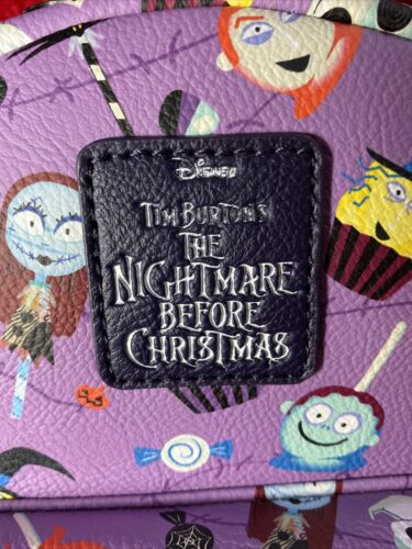 Details about  /Loungefly Disney The Nightmare Before Christmas Purple Candy Mini Backpack New!