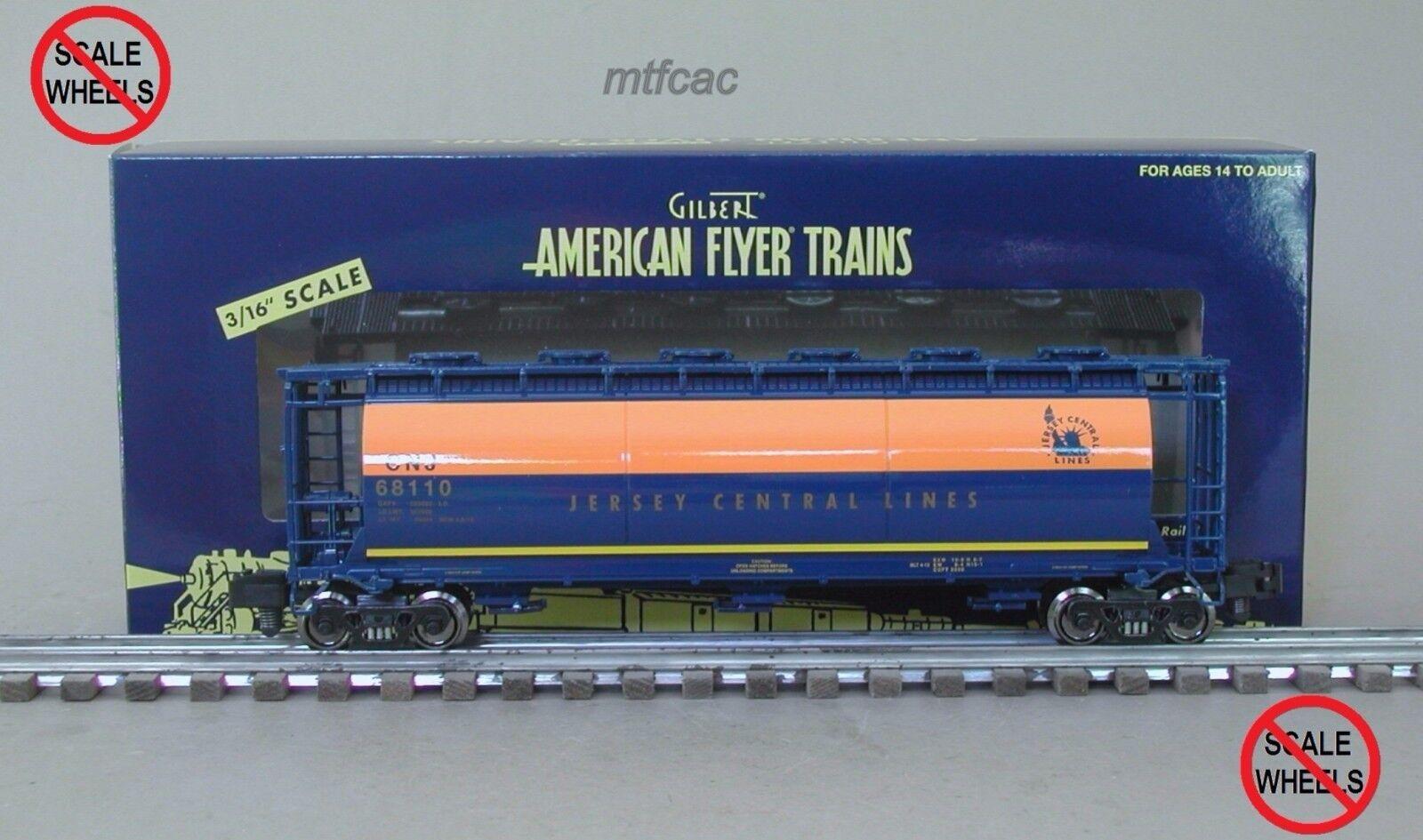American flygagaer (High järnväg) 6 -48652 Jersey Central CNJ Cylinderisk Hopper -bil