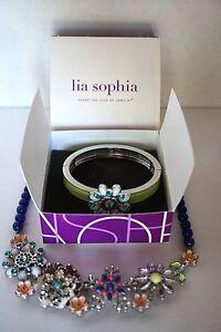 Lia-Sophia-Necklace-amp-Bracelet-Set-Full-Bloom-New-w-o-Tags