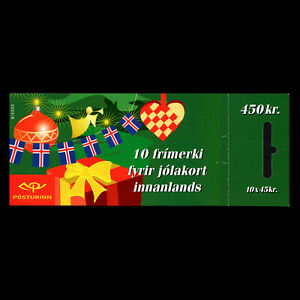 Iceland-2002-Merry-Christmas-Booklet-Sc-980a-MNH