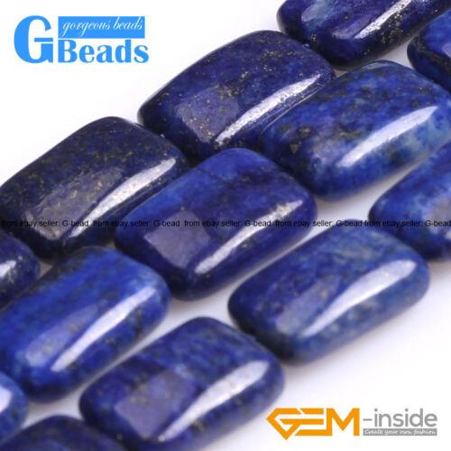"""Azul Lapislázuli cuentas de piedras preciosas Rectángulo para joyería haciendo Envío Gratis 15/"""""""