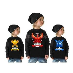 Phenovo-POKEMON-GO-Kinder-unisex-Langarm-T-shirt-polos-Sweatshirt-Pullover