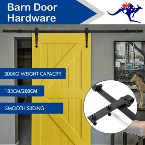 1-83M-2M-Sliding-Barn-Door-Hardware-Kit-Roller-Slide-Track-Set-Antique-Classic