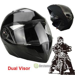 f7b748ab DOT Carbon Fiber Modular Flip Up Dual Visor Full Face Motorcycle ...
