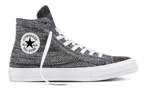 Converse CTAS Hi Top Flyknit Men s Women s Unisex Shoes Black Wolf ... a7c61e35c