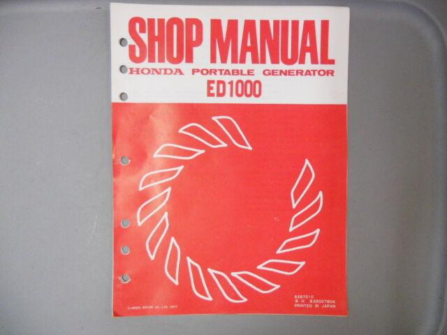 Honda Factory Service Repair Shop Manual 1977 Ed1000