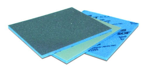 Abrasive coated one sided sponge pads Price per 6 pads Norton