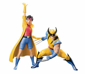 Kotobukiya-Artfx-Marvel-X-Men-92-Wolverine-amp-Jubile-Figurines