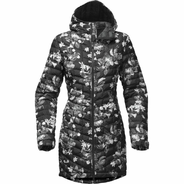 4cc09dc0ceca The North Face Womens Thermoball Hooded Parka II Insulated Jacket Black  Flower M for sale online