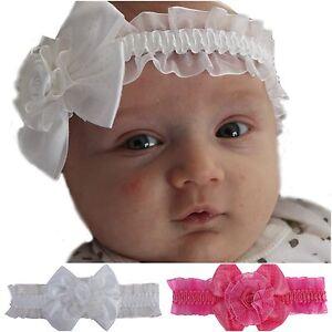 Details Zu Baby Mädchen Haarband Taufe Kinderhaarband Stirnband Haarschmuck Schleife Blume
