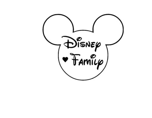 Disney Family Vinyl Car Decal Sticker