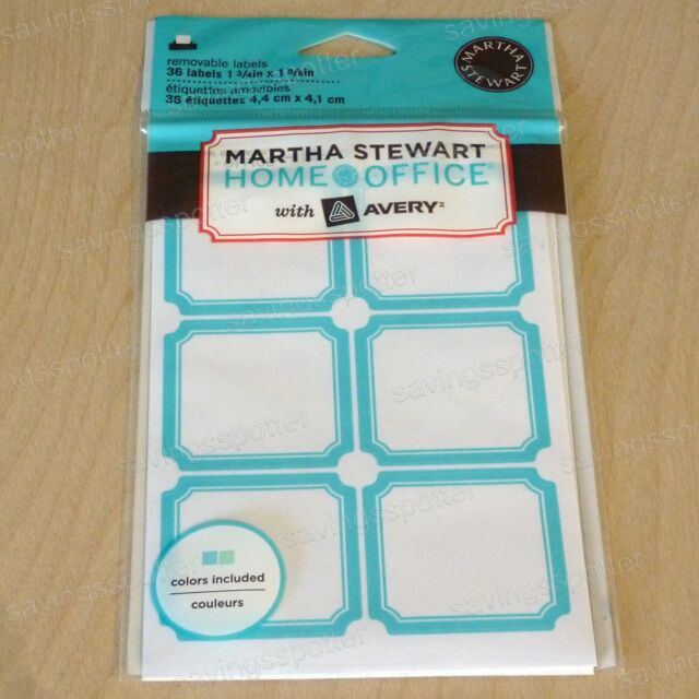 picture about Removable Printable Labels known as 216 Rely Martha Stewart Avery Detachable Labels Teal Blue Inexperienced Border Sq.