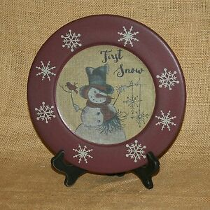 First-Snow-Snowman-Decorative-Plate-On-Stand-Hearthside-Collection