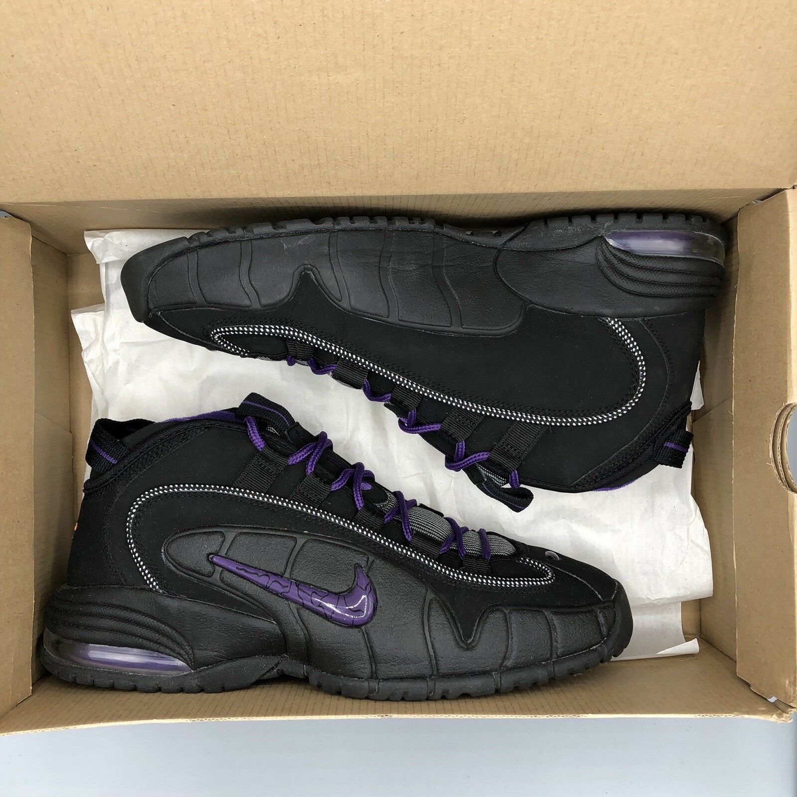 Nike Air Max Penny One 1 Black Club Purple Phoenix Suns Size 10.5 311089 002
