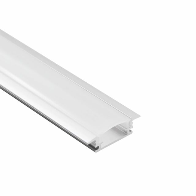 3.3ft Shallow Flush Mount Aluminum U Channel for flex/hard LED Strip Light - U03