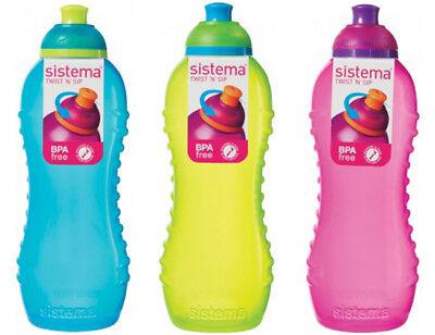 3 sistema 460ml twister boissons bouteilles violet bleu /& rose bpa free