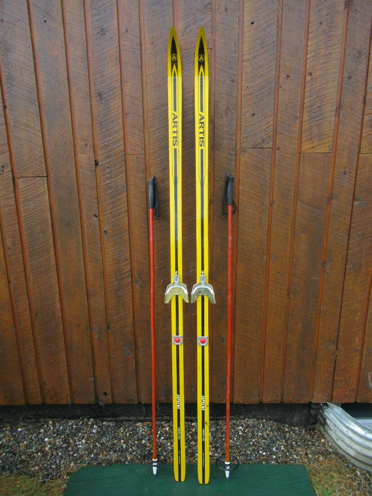 Ready to Use Cross Country  78  Long ARTIS 200 cm Skis +  Poles  hot sale online