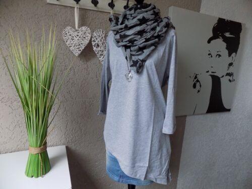 40 42 NEU Longsleeve Shirt Sheego Longshirt asymmetrisch grau Gr 23b